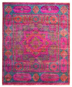 I don't know what it is, but this re-dyed rug makes my heart skip a beat!