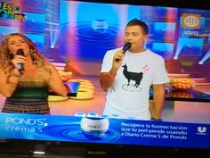 "*One of the highest rated shows in PERU ""Esto es Guerra"" host MATIAS BRIVIO wearing Kapo Clothing's ""LLAMA LOVE"" tshirt... check it out!!!"