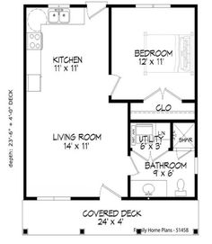 house flooring Cabin Country Ranch House Plan 51458 Level One Porch House Plans, Small House Floor Plans, Cottage Style House Plans, Simple House Plans, House Plans And More, Family House Plans, Cottage Plan, House With Porch, Cabin Plans