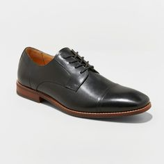 7c881aeb24f42 Men s Brandt Leather Cap Toe Oxford Dress Shoes - Goodfellow  amp  Co Black  12 Gender