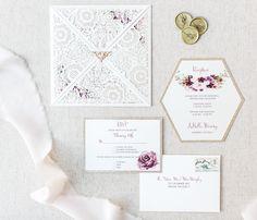 Lasercut wedding invitation  #lasercutinvitation