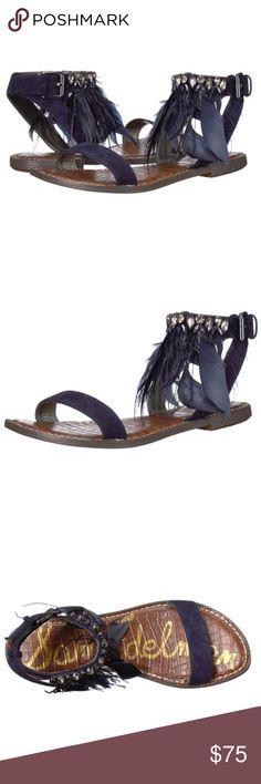 33f7864a1 NWOT Sam Edelman Genevia feathered flat sandals NWOT Sam Edelman Genevia  feathered flat sandals Women size