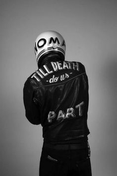 Till death do us part - leather bike jacket - via www.murraymitchell.com