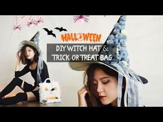 DIY Halloween | Witch Hat & Trick or Treat Bag (Giveaway)