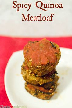 Spicy Quinoa Meatloaf - 5 WW+ points (gluten free)