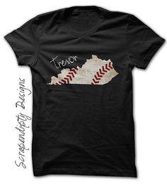 Kentucky+Baseball+Tee++Baseball+Shirt+/+Customized+Kentucky First Birthday Shirts, 1st Birthday Outfits, Boy First Birthday, Birthday Board, Birthday Ideas, Personalized T Shirts, Custom Shirts, Easter Outfit, Toddler Outfits