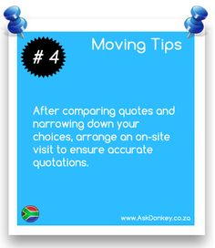 Moving Tip #4: Arrange for an on-site visit. This will ensure accurate quotations from the #MovingCompanies.