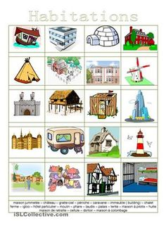 Different Types Of Houses, Key Stage 1, French Language Lessons, Earth And Space Science, Preschool At Home, Expressive Art, Teacher Tools, Teaching French, African Animals