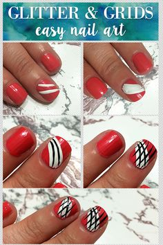 We love this #NailArt for #beginners! Change the colors to support your favorite #sports team! #SoCutex #Mani