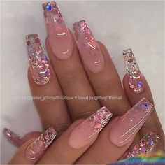 Top Awesome Coffin Nails Design 2019 You Must Try - Coffin Nails . - Nageldesign top awesome coffin nails design 2019 you have to try – coffin nails – to # Nails - Summer Acrylic Nails, Best Acrylic Nails, Acrylic Nail Designs Coffin, Coffin Acrylics, Nail Swag, Stylish Nails, Trendy Nails, Polygel Nails, Manicure