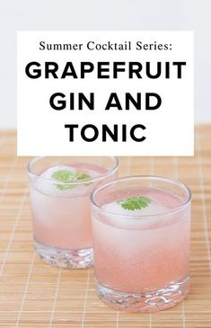 Mix up the drink you deserve with a batch or two of these mouth-watering Grapefruit G&Ts. Give it a try this weekend, then thank us later.