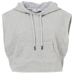 adidas by Stella McCartney Sweatshirt grey heather ❤ liked on Polyvore featuring tops, hoodies, sweatshirts, heather gray sweatshirt, heather sweatshirt, gray top, gray sweatshirt and grey top