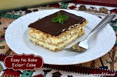 Mommy's Kitchen - Home Cooking & Family Friendly Recipes: Easy No Bake Chocolate Eclair Cake