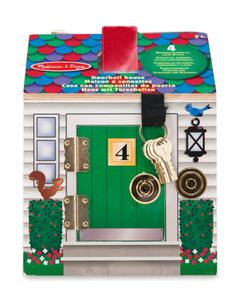 Buy Melissa & Doug Doorbell House Playset at Argos. Thousands of products for same day delivery or fast store collection. Little People, Little Ones, Home Themes, Melissa & Doug, Songs To Sing, Wooden House, Imaginative Play, Argos, Fisher Price