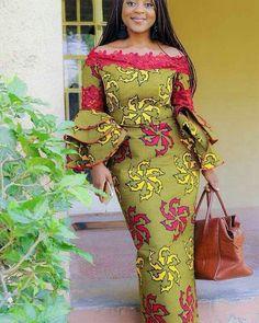 Long off shoulders fitting chitenge dress kanyget fashions. Evodia Ifezulike 14605a19f2