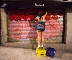 YUBIA IN ACTION  @yu_yubs _______________________ #madstylers #bombing #ilovebombing #graff #graffiti #sprayart #graffitiart #graffporn #vandalism #style #hiphop #spray #letters #colorful