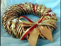 Jak zrobić wianek z papierowej wikliny? [wreath, paper wicker] (Claoodia Art)