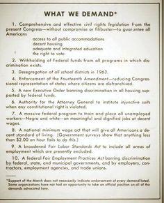 What We Demand: #MOW50 original demands