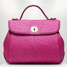 Hot pink Natalie ostrich leather bag $139 USD