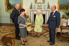 """Royal Life Magazine on Twitter: """"The Queen and The Duke of Edinburgh host Dame Patricia Reddy, @GovGeneralNZ designate at a private audience"""