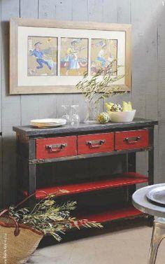 distressed furniture Art et Décoration magazine