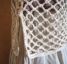 Hand Crochet Tunic Crochet Top Crochet Shirt by ValijaDesign