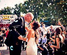 Wedding rice toss alternatives, confetti wedding exit, wedding exit ideas