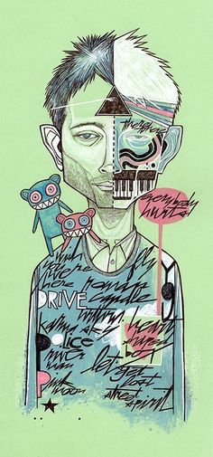 Everybody Hurts (Thom Yorke / RADIOHEAD Illustration) by Matt Cipov (U.S.)