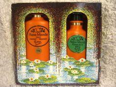 Vintage Goya Aqua Manda Talc 110g and foam bath 105g gift set