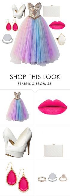"""Prom"" by theblackswann ❤ liked on Polyvore featuring Bob Mackie, Michael Antonio, GUESS by Marciano, Kate Spade, Topshop, Ippolita, women's clothing, women, female and woman"