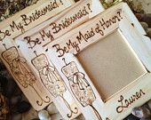 SET of 3 Will you Be My Bridesmaid Maid of Honor - Special & Personal Way Ask Them to be in your Wedding Day Custom Frames