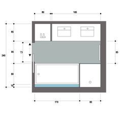 Salle de bains zen en teck et galets de 7m2 le plan chambres et salle de bain pinterest zen for Salle de bain carree 4m2