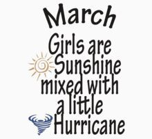 c9a80a5efa70e March Girls are sunshine mixed with a little hurricane t-shirt by ...