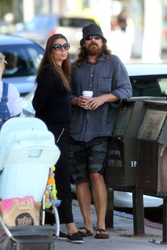 Christian Bale and wife in Santa Monica