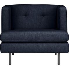 "avec chair - Uniform | CB2 dark blue I think - avec chair 35""Wx34.5""Dx29""H 1050"