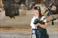women on bagpipes