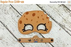 Check out this item in my Etsy shop https://www.etsy.com/listing/477848463/early-bird-sale-cookie-mask-and-bracelet