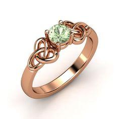 The Katarina Ring #customizable #jewelry #greenamethyst #rosegold #ring