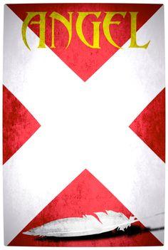 Vamers - Artistry - Minimalist X-Men Poster Art - Angel