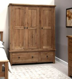 Grey Bedroom Interior Design Rustic Wooden Wardrobe Plans - August 24 2019 at Wardrobe Furniture, Bedroom Furniture, Solid Oak Internal Doors, Double Doors, Wooden Closet, Wooden Wardrobe Closet, Bedroom Wardrobe, Interior Barn Doors, Home Decor Bedroom
