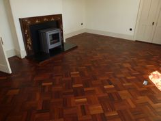 Another lovely Merbau floor laid in a basketweave pattern