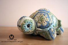 Darwin the African Flower Tortoise Crochet Pattern by CuteAsHook