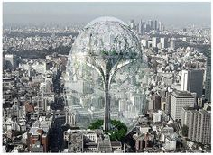 Greenhouse in the city to keep greenhouse gases out?