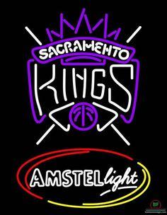 Amstel Light Sacramento Kings Neon Sign NBA Teams Neon Light