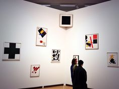 #Malevich exhibition @Stedelijk Museum Amsterdam Museum Amsterdam Museum Amsterdam including the famous black square. Special Malevich exhibition there between Oct 19 2013 and Februari 2 2014.