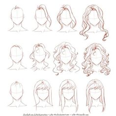 Ideas Fashion Drawing Tutorial Sketches Hair Reference For 2019 Drawing Techniques, Drawing Tips, Drawing Sketches, Painting & Drawing, Drawing Ideas, Drawing Faces, Drawing Style, Hair Styles Drawing, Long Hair Drawing