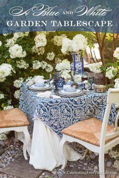 Blue & White in the Garden