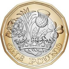 3 to 1 Royal Mint Uncirculated One Pound - 2016 Date, Twelve 12 Sided Coin