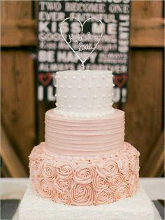 pink wedding cake envy