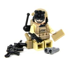 JTAC/CCT Air Force Special Forces Minifigure Commando Made With Real LEGO(R) Mini-Figure Parts - Battle Brick